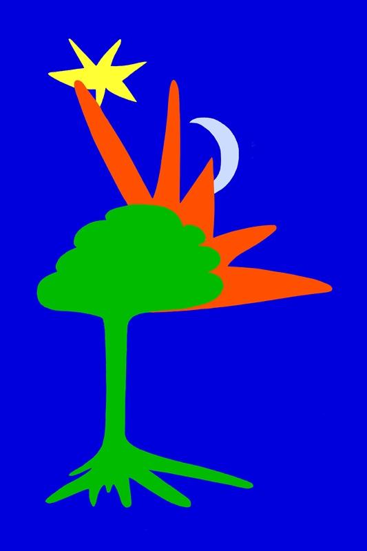 Sun, Moon, Tree